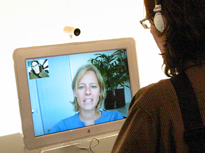 blonde womanwebcam
