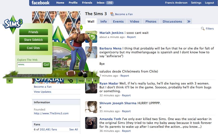 sims 3 facebook