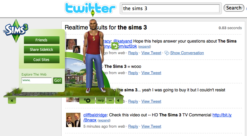 sims 3 twitter