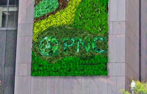 pnc green wall