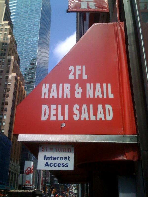 hair nail salad