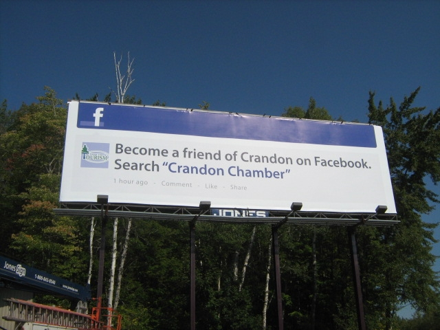 crandon facebook billboard